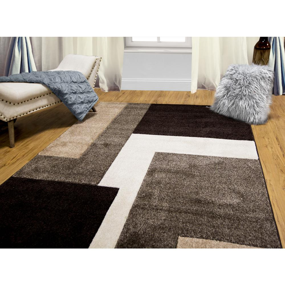 indoor rugs home dynamix bazaar zag dark brown 5 ft. x 7 ft. indoor area IVSZFJP