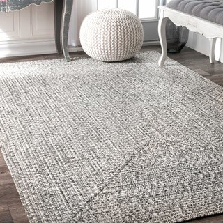 indoor rugs oliver u0026 james rowan handmade grey braided area rug - 6u0027 ... MIDDTCO
