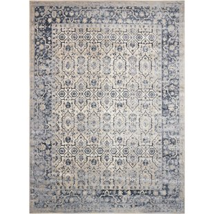 kathy ireland rugs malta ivory/blue area rug. by kathy ireland home gallery BCIMXAN
