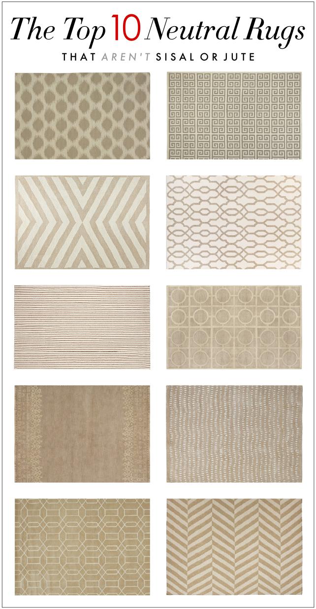 kelly market: the top ten neutral rugs that arenu0027t sisal or jute CLMSHDV