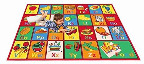 kids rug abc fruit area rug 39 x 58 ... RXZONXQ