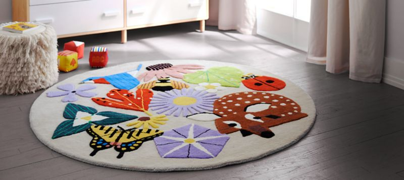 kids rug baby and kids rugs | crate and barrel YJMNSXS