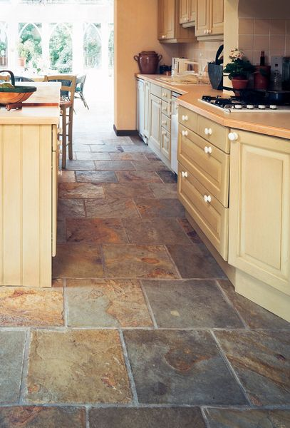 kitchen tile flooring reminds me of the slate floor in our old farmhouse. beautiful u0026 full OUAJBHZ