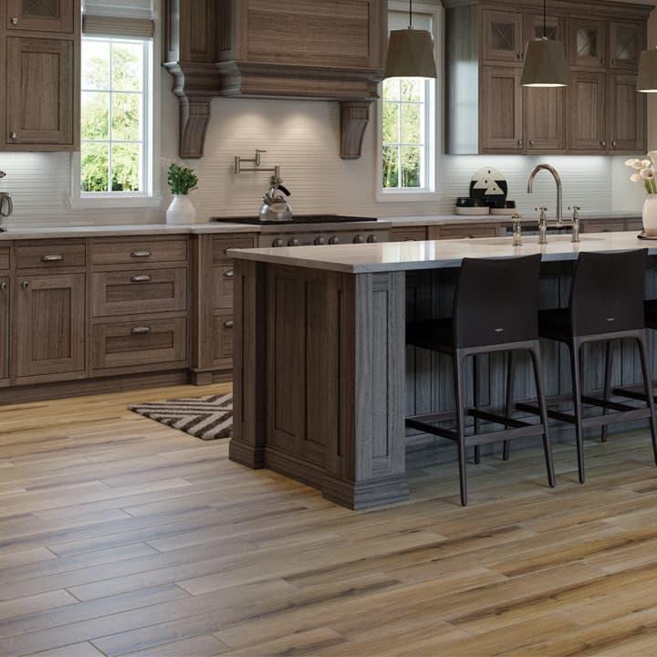 kitchen tile flooring wood look tile on the kitchen floor HHRQVDH