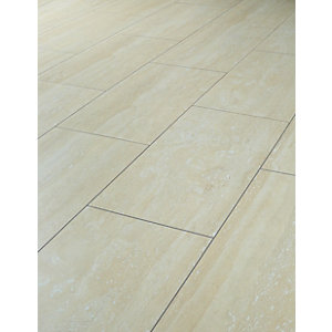 laminate floor tiles wickes travertine tile effect laminate flooring - 2.5m2 pack BQZFFTT