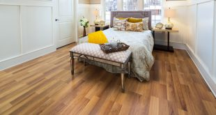 laminate flooring colors styles classic pecan laminate in bedroom ... CENUSWL