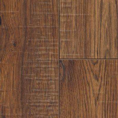 laminate wood floor distressed brown hickory 12 mm thick x 6-1/4 in. wide x FLVTLHM