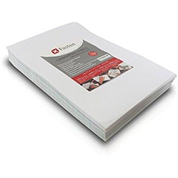 laminated sheets xfasten self-adhesive laminating sheets, 6 x 9 inches, pack of 100, 4.76 TIETNEL