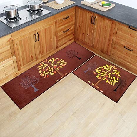Large kitchen rugs hebe extra large kitchen rugs 2 piece set non-slip kitchen mat and runner LPLKRPO