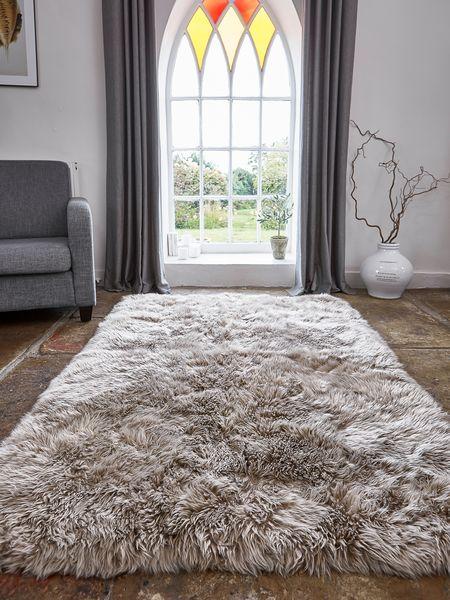 large rug large luxurious sheepskin rug - caramel QLLUWVY