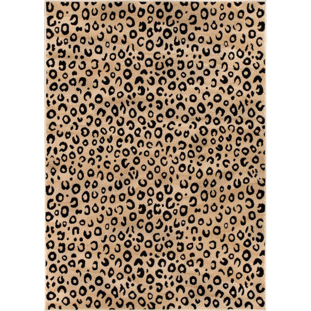 leopard rug well woven dulcet leopard black 3 ft. x 4 ft. modern animal print ADAWPMO
