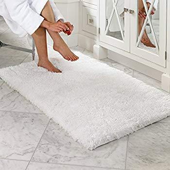 lochas luxury soft bathroom rug non-skid rubber back water absorbable bath  mat WENQBIE
