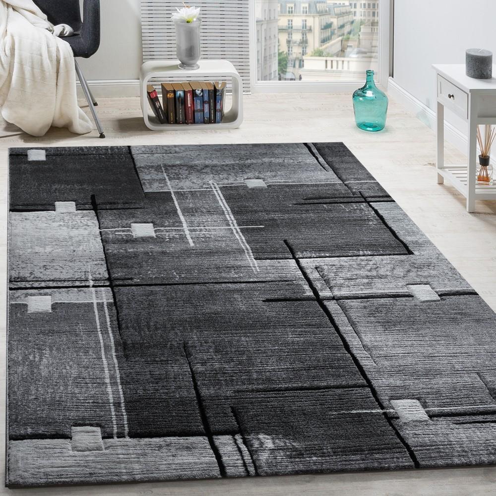 luxury rugs geometric rug - mottled black 001 MRQZTGZ