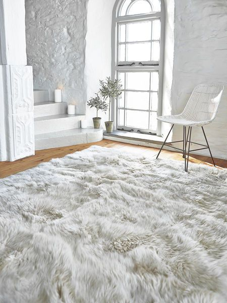 luxury rugs this extra large long wool sheepskin rug creates a rustic or modern style EXZRPTX