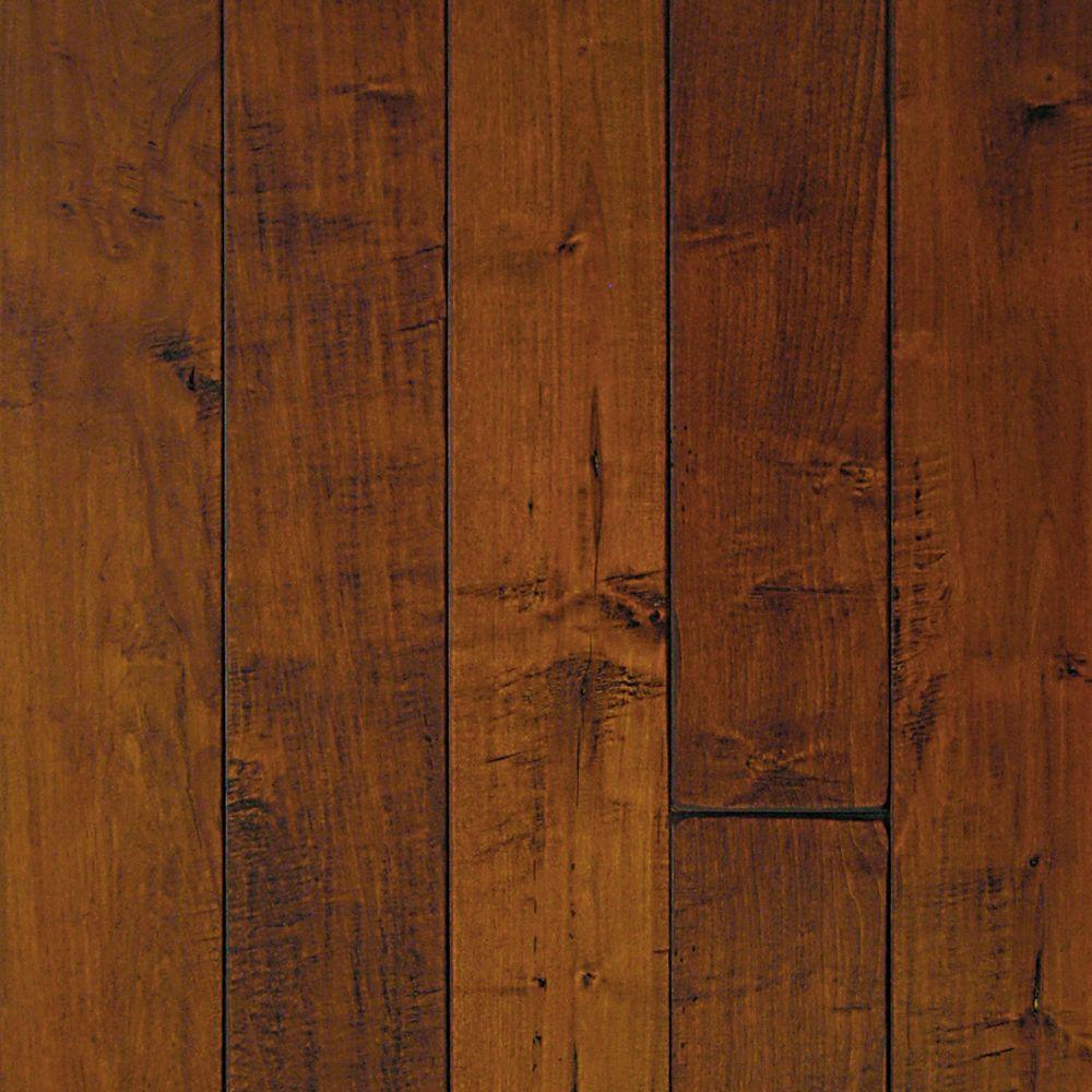 maple wood flooring millstead hand scraped maple spice 3/4 in. thick x 3-1/ EWUYOVG