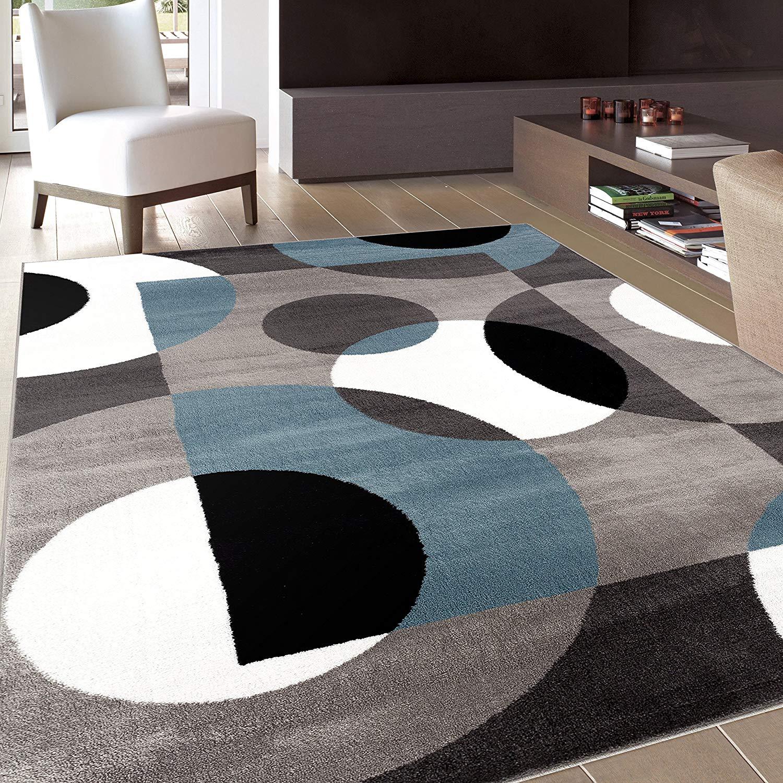 modern area rugs amazon.com: rugshop modern circles area rug, 5u0027 3 SAMWUPX