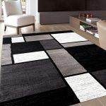 modern black area rug black