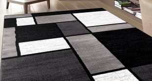 modern black area rug black and white area rugs amazon.com: rug decor contemporary modern boxes area COVHFIU