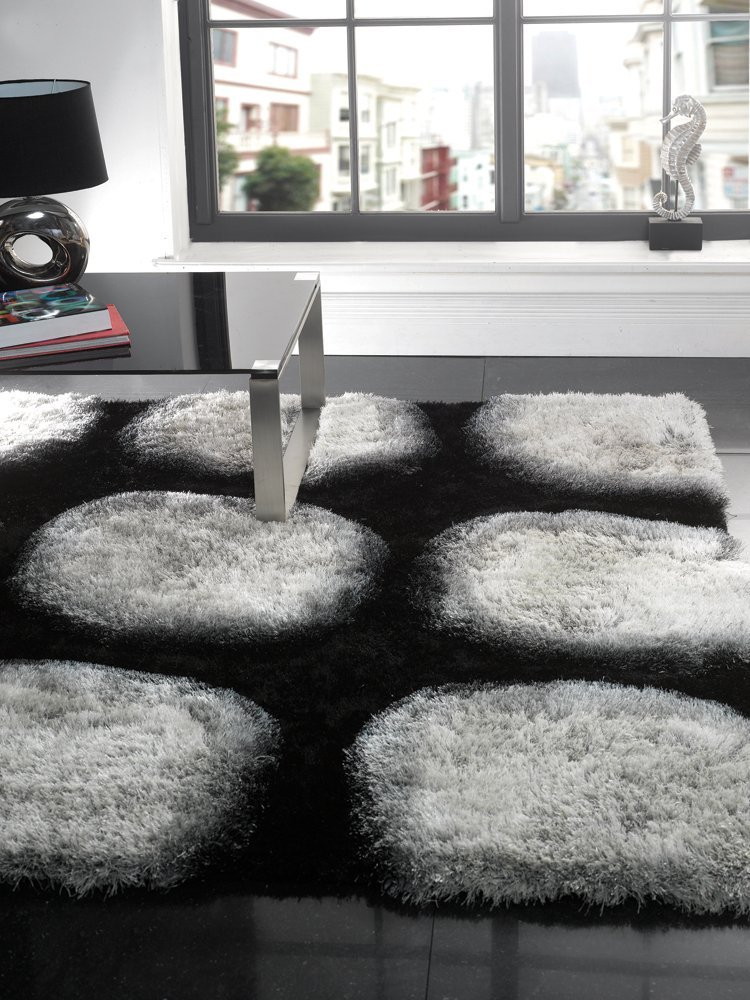 modern black area rug black and white area rugs contemporary GYPJACG