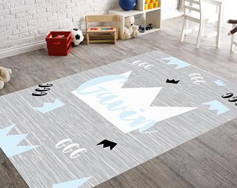 modern kid rug monogram rug, childrens rugs, modern nursery decor, playroom decor, kids  bedroom decor, FNOXDJC