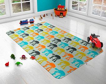 modern kid rug star wars rug, atat rug, walkers rugs, kids carpet, modern rug, nursery rug, BGDORSL