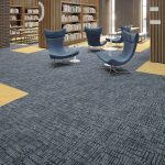 Modern home floors using modular carpet