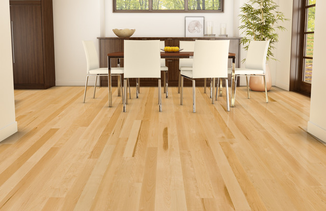 natural exclusive hard maple hardwood flooring from lauzon  contemporary-dining-room MWHJKPL