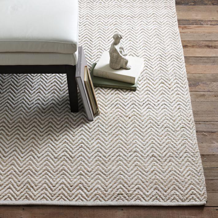 natural rugs jute chenille herringbone rug - natural/ivory | west elm BHKEDDC