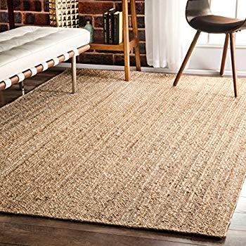 natural rugs nuloom natural hand woven rigo jute rug area rug, ... DKVMIMJ