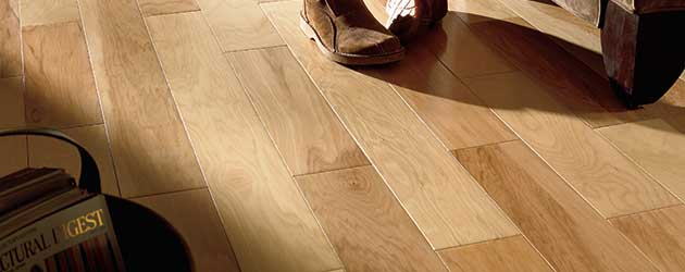 Natural wood tile floor american hickory natural hardwood flooring NIXFNEK