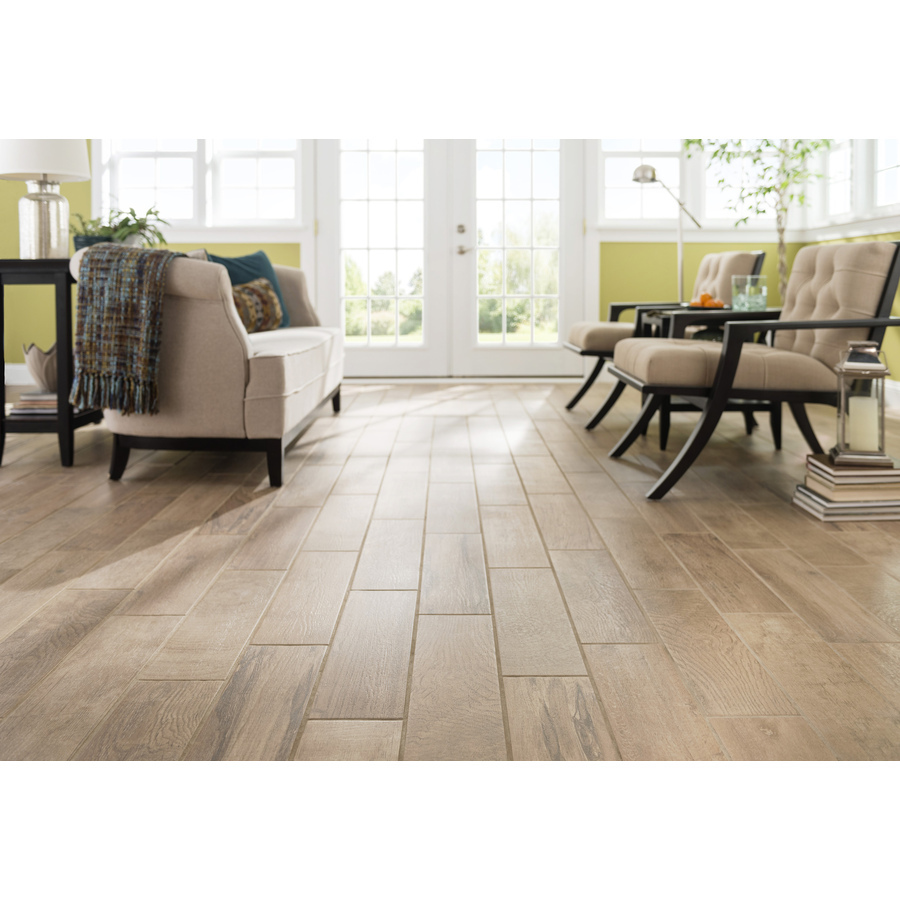 Natural wood tile floor easy style selections tile flooring porcelain wood eldon white ... KMXHNSQ