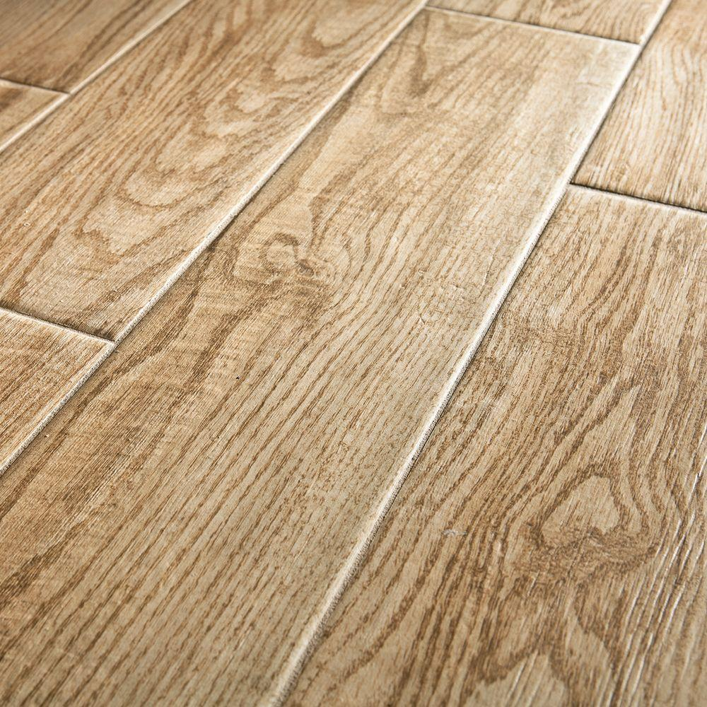 Natural wood tile floor pictured: wood look tile flooring MOZJHHY