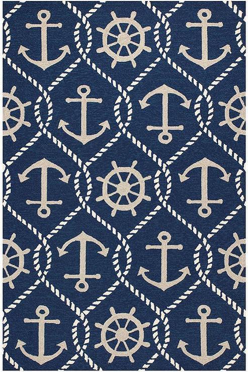 nautical rugs navy nautical symbols rug TTXGOZU