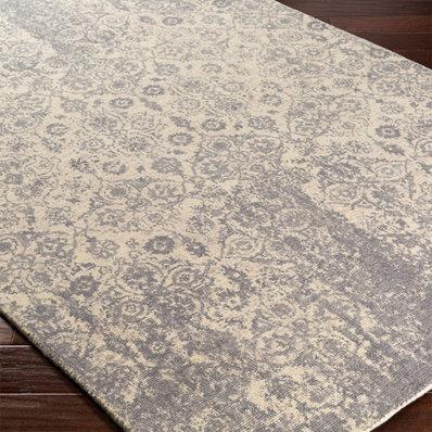 neutral rugs distressed ornamental floret rug NOXGTWI