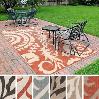 nina contemporary floral indoor/outdoor area rug (5u00273 x 7u00276 SAKKQJM