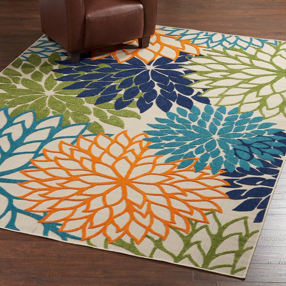 nourison aloha multicolor 8 ft. x 11 ft. indoor/outdoor area rug VGJPMYB