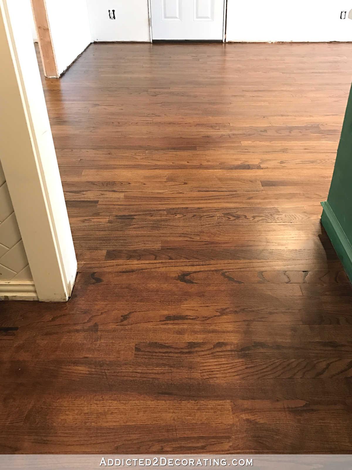 oak floors refinished red oak hardwood floors - kitchen and breakfast room HKRFUOJ