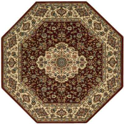octagon rugs persian arts neolithic brick 8 ft. x 8 ft. octagon area rug GPJNFTP