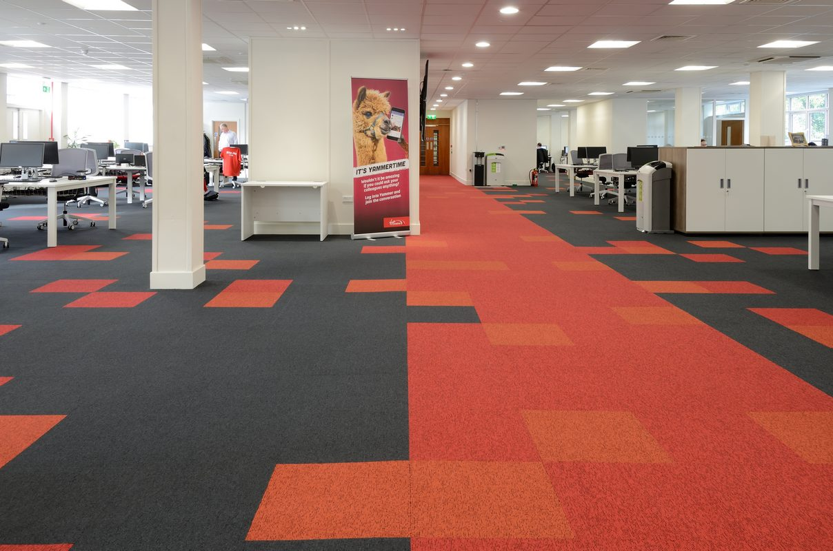 office carpet tiles up u0026 balance grayscale carpet tiles at virgin trains head office QMIECAB