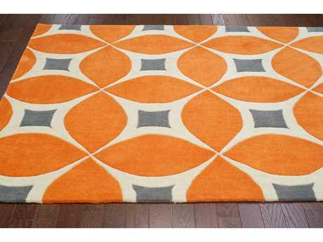orange rugs ... nuloom barcelona deep orange rectangular area rug DEUDGOS