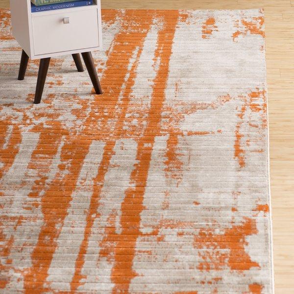 orange rugs wrought studio ferrint orange area rug u0026 reviews | wayfair HYKAFHT