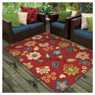 orian rugs st. thomas promise indoor/outdoor area rug - red : target RGEEOBD