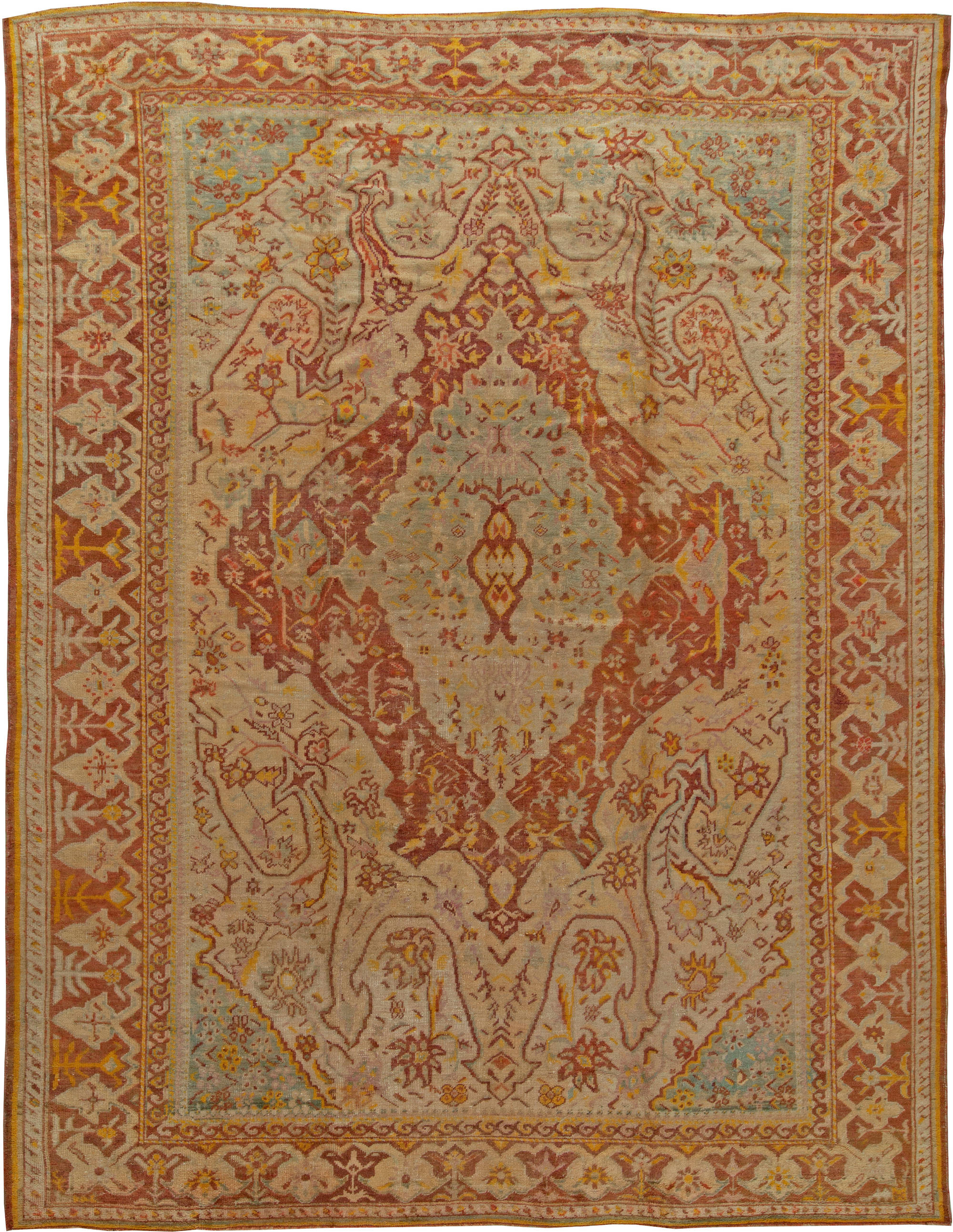 oushak rugs antique turkish oushak rug ... FYMUVPD