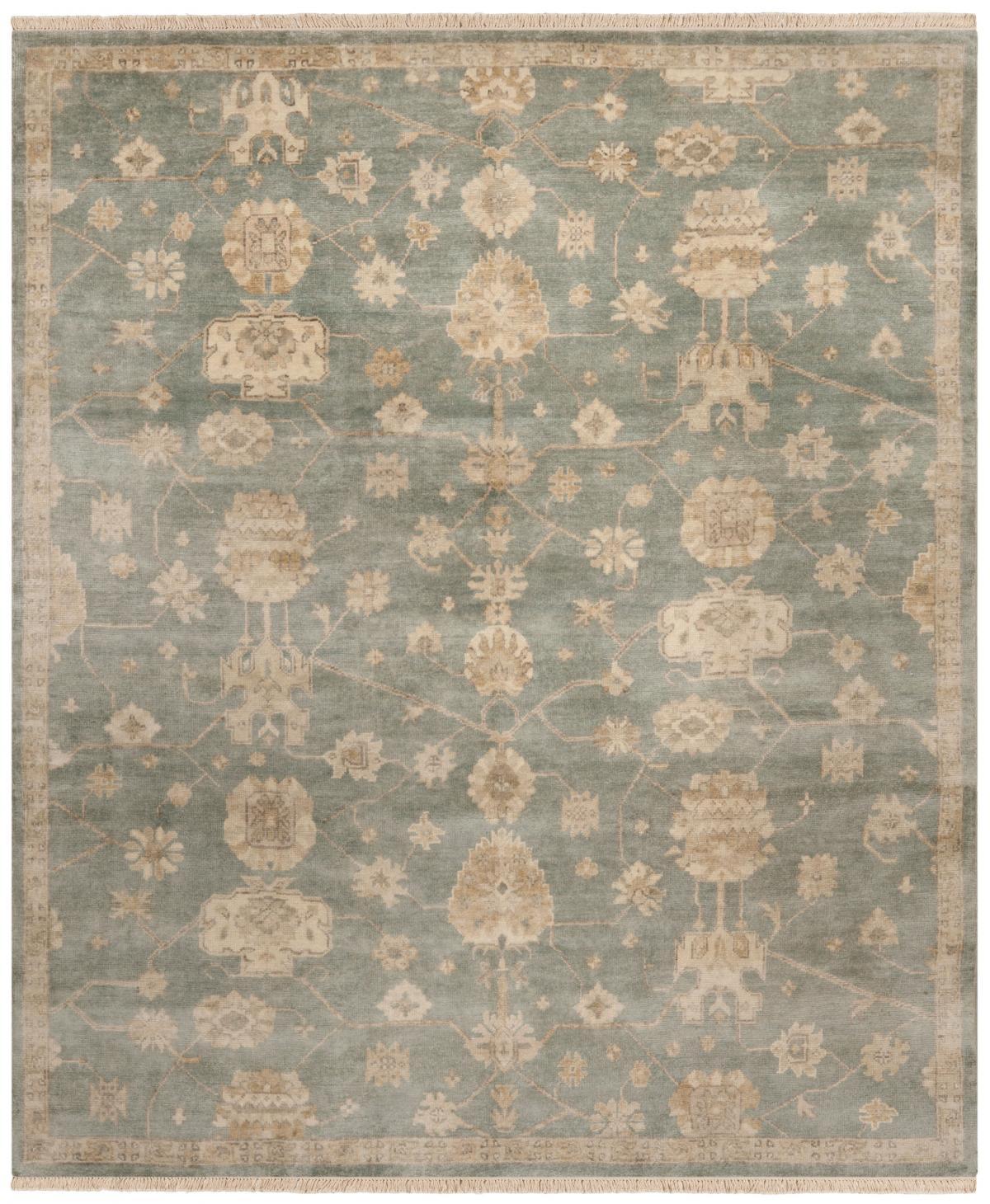 oushak rugs blue / ivory PWVCDLE