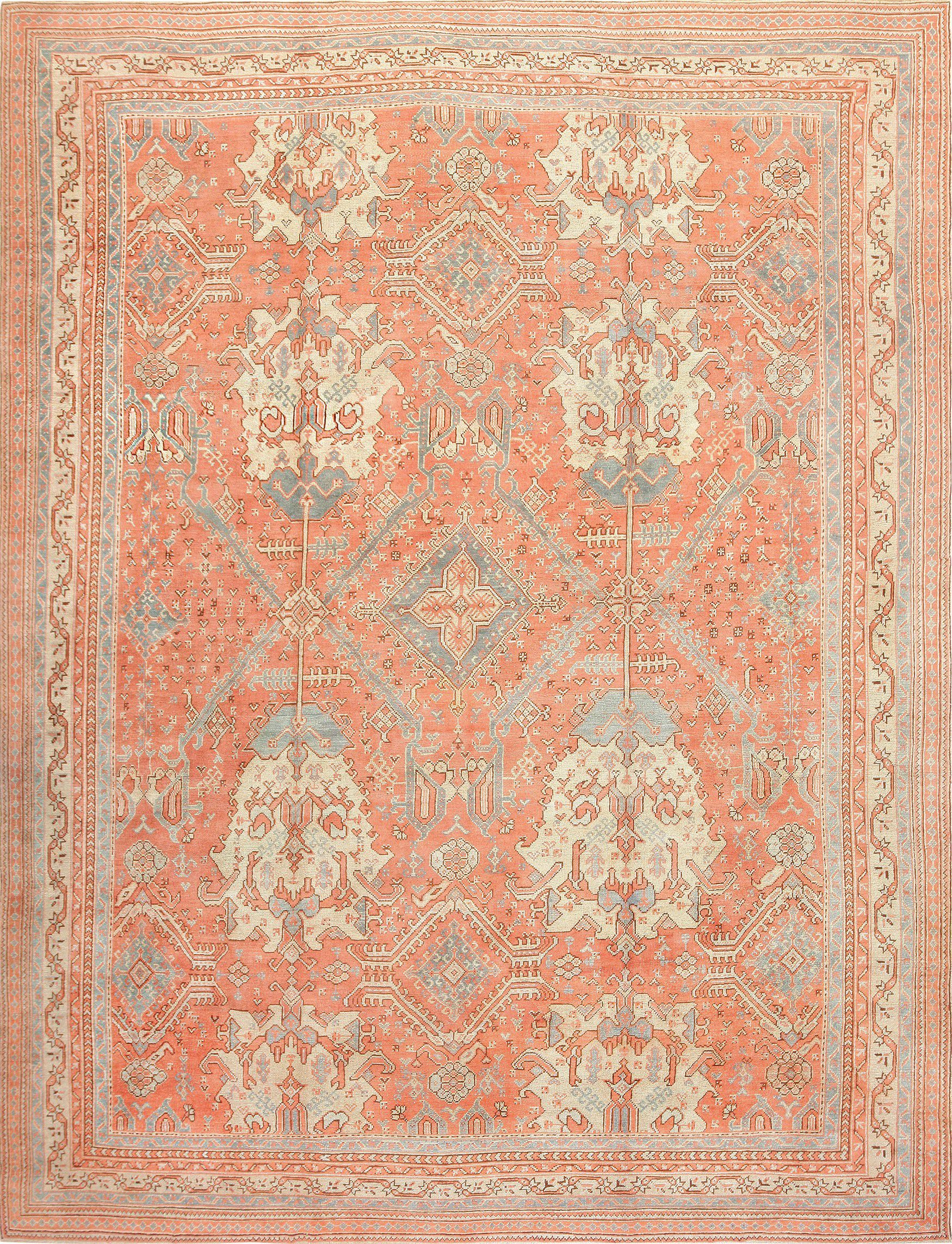 oushak rugs large antique turkish oushak rug 47426 detail/large view GTKCXKH