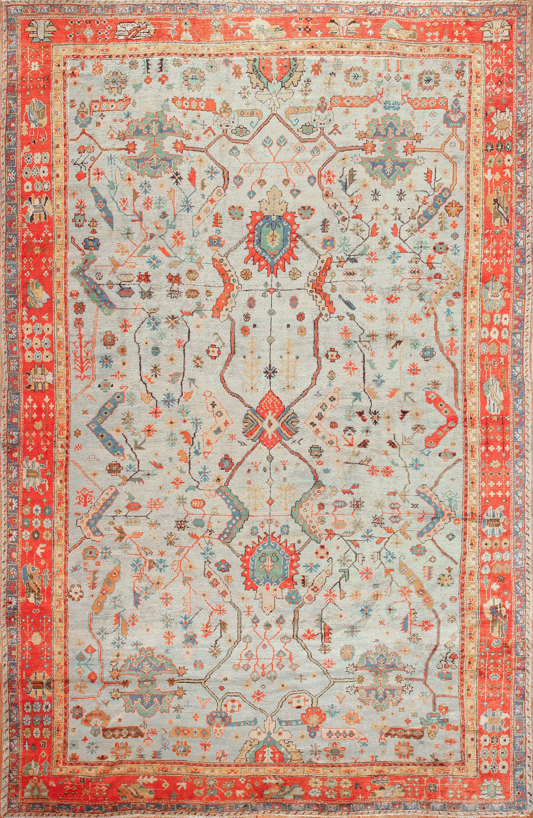 Turkish oushak rugs
