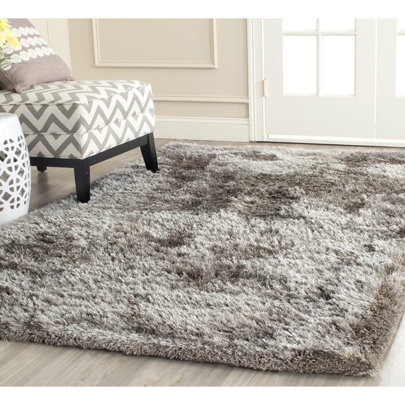 outstanding willa arlo interiors maya silver shag area rug reviews wayfair  pertaining HMGYSED