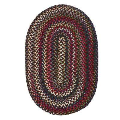 oval rug chestnut knoll amber red 7 ft. x 9 ft. oval braided area rug ZTTCHQE