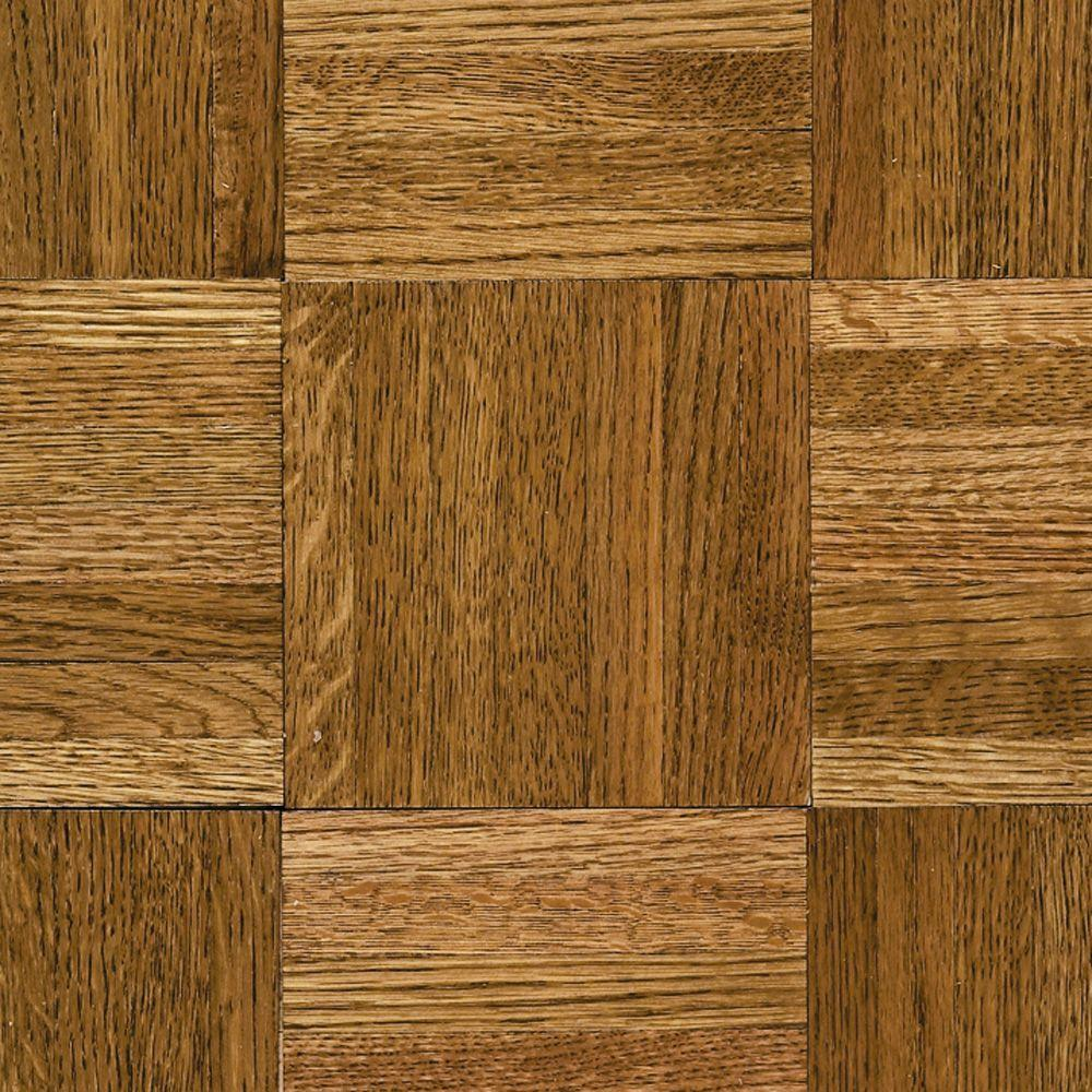 parquet wood flooring bruce natural oak parquet spice brown 5/16 in. thick x 12 in. IGQHRPA