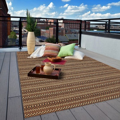 Patio rug edgeman rectangle patio rug - black / natural - balta rugs : target THBNVAR
